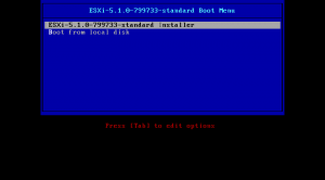 ESXi - boot from the CD